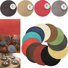 4X Fine Holiday Christmas Round Woven Table Pads Placemats Waterproof Cloth Mats