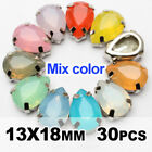 Sew on Claw Rhinestones 13X18mm 10PCS Opal color Drop Resin Stones For Garment