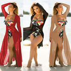 US Women Cover Up Summer Lace Crochet Bikini Swimwear Beach