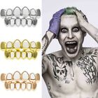 New 4 Color Hip Hop Teeth Grillz Plated Custom 8 Top Bottom Mouth Set Grills