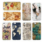 World Map Travel Just Go Soft case for iPhone XS 8 7 6 5 Samsung S8 S9 S10 Plus