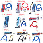 USB 3.0 PCI-E Express 1x To16x GPU Extender Riser Card Adapter Power Cable lot