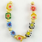 9Pcs/Set Millefiori glass Cube Pendant Bead 6x6x6mm L75828