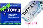 Okamoto Crown Skinless Skin Thin Lubricated Condoms with FREE LUBE