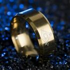 Top Quality Masonic Stainless Steel Knights Templar Gold Plated Freemason Ring