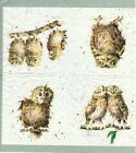 SERVIETTES EN PAPIER HIBOU CHOUETTE OISEAUX DE COLLECTION.PAPER NAPKINS OWL BIRD