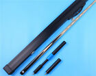 Snooker pool Cue One 1 Piece Handmade Ebony Cues and Aluminium Case Extension $88.43 USD on eBay
