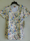 Tooniforms Dr Seuss Womans Cherokee Missy Fit Scrub Top  LARGE