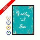 Freedom Isn't Free Framed Canvas White Decorative Art Picture Print gifts Ideas