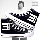 Eminem Unisex Cosplay High help Casual Sneakers Canvas Shoes  KK