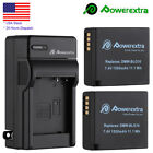 1500mAh DMW-BLE9 DMW-BLG10 Battery + Charger for Panasonic DMC-ZS60 ZS100 LX100