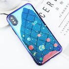 Blue-Ray Galaxy Shockproof Cute Phone Back Cover Case For iPhone X 8 7 6S Plus