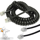 RJ10 to RJ10 (4P4C) Coiled Telephone Handset Cable Curly Lead Cord Wire 2m 3m 5m