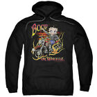 Betty Boop On Wheels Pullover Hoodies for Men or Kids $24.74 USD