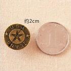 Jean Buttons 20mm No-sew On Metal Plain Replacement For Jeans/shirts/Pants USA