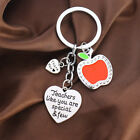 Teacher Gift Necklace Pendant Jewelry Keyring Bracelet Bangle Charm Red Apple