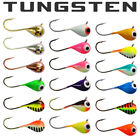 18 PACK - Tungsten Jigs 6mm - #8 Hook Walleye, Crappie, Perch Ice Fishing Jigs
