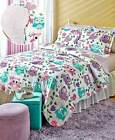 Owl or Sports Quilt Sets Polyester Whoot Owl Sports Arena Twin & Full/Queen New