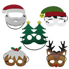 Kid Christmas Tree Snowman Elk Face Mask Masquerade Party Ball Prom Costume Lot