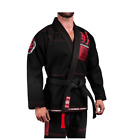 Jiu-jitsu Uniform Hayabusa Goorudo3 Gold Weave BJJ GI Brazilian Genuine Black