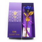Valentine's Day Romantic Gift 24K Gold Plated Rose Golden Flower for your Love