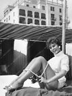 8b20-17683 gorgeous Eunice Gayson in short shorts at the beach 8b20-17683 $19.99 USD