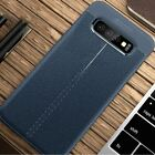 For Samsung A6 A8+ S9 S10 Note 10 Plus Shockproof Rubber Leather Back Case Cover