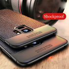 For Samsung Galaxy A8/A8+ 2018/S9 Plus Shockproof Rubber Leather Back Case Cover