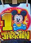 Custom Airbrushed Baby Mickey Mouse Shirt With Name (Sizes 6 months - Adult 5XL) image