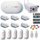 E72 APP WiFi GSM Wireless House Home Security Alarm System+Outdoor HD IP Camera