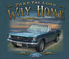 Ford Mustang Long Way Home MIDNIGHT BLUE Adult T-shirt
