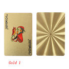 New Waterproof Plastic Playing Cards Collection Gold Black Diamond Poker Cards