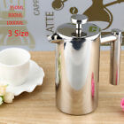 350/800/1000ML Stainless Steel Insulated Coffee Tea Maker Filter Double Wall