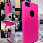 iPhone 8 Case Protective PU Ole-phobic Bright PINK & Glass Screen Protector