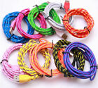 Braided Micro USB Data&Sync Charger Cable Cord For i Phone 6s 6 7 8 plus X Xs st