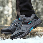 Plus Size Men's Fur Lined Hiking Shoes Waterproof Antiskid Trail Outdoor Shoes