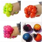 4 Pack Mesh Squishy Ball Squeeze Grape Toy Lot Anti Stress Relief Reliever Toy