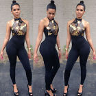 ladies jumpsuits - Women Ladies Clubwear Hollow Playsuit Bodycon Party Jumpsuit&Romper Trousers USA