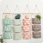 Wall Hanging Storage Bag 3Grids Sundries Organizer Toys Container Decor Pocket Q