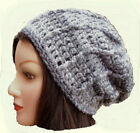 CROCHET SLOUCHY BEANIE HAT festival hippy baggy cowl scarf gloves set 11 mittens