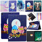 """For iPad mini/Air 2/Pro 10.5"""" Cute Pattern Smart Leather Wallet Stand Case Cover"""