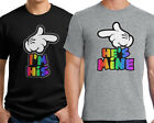 I'm His He's Mine Hands Pointing T-Shirt Couples Valentines Gay Couple LGBT Gift image