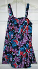 PLUS SIZE PURPLE FLORAL SWIMSUIT BUILT IN BRA TUMMY CONTROL  SIZE 14 NWT