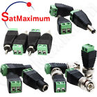 DC Power Connector 2.1 x 5.5mm BNC RCA Male /Female CCTV Video Balun Adapter LOT