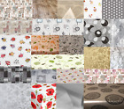 LUXURY PVC WIPE CLEAN VINYL TABLE CLOTH PLAIN PRINTED TRADITIONAL MULTI PARTY