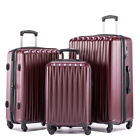 LightWeight Hardshell Spinner Luggage Sets 3 pieces PC/ABS H