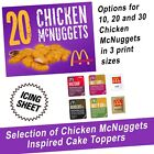 McDonalds Chicken Mcnuggets Cake Topper, Edible Icing Sheet