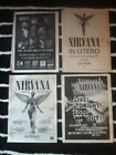 NIRVANA - ORIGINAL ADVERT / SMALL POSTER in utero LIVE 1994 from the muddy banks