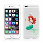 iPhone 7 8 7Plus 8 pluse case DISNEY ARIEL PRINCESSES CLEAR TPU SOFT cover