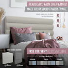 Headboard Upholstered King Queen Double Bedhead for Bed frame Linen Fabric